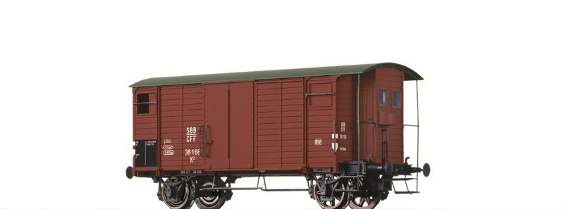 Gedeckter Güterwagen K2 der SBB, DC, Spur H0