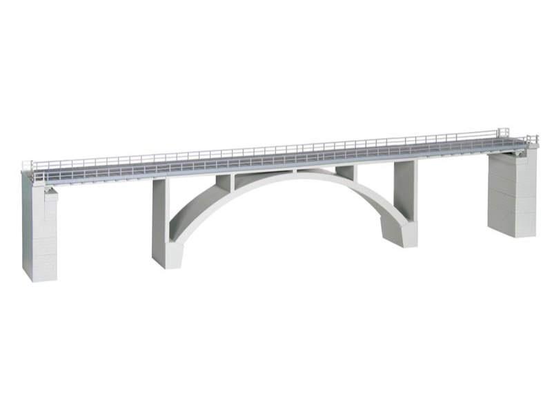 Spannbeton-Bogenbrücke, eingleisig, Bausatz, Spur H0