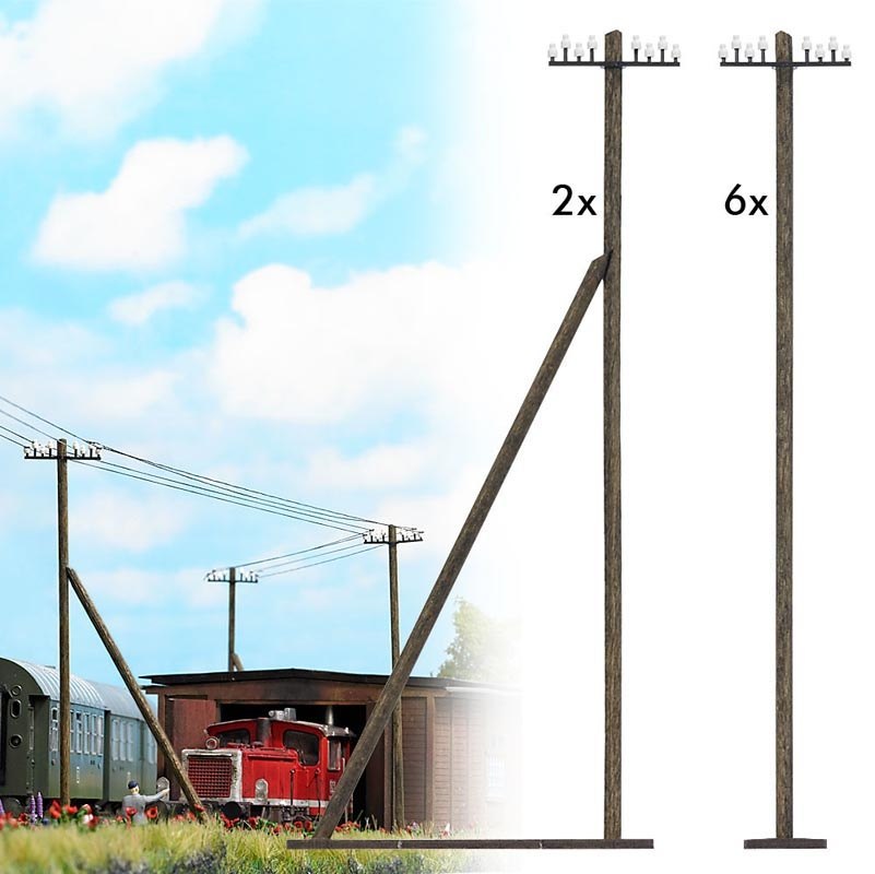 Telegrafenmasten Bausatz, Spur H0