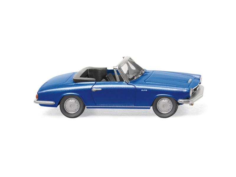 1//87 Wiking Glas 1700 GT Cabrio mit Verdeck dunkelgrün 0186 98