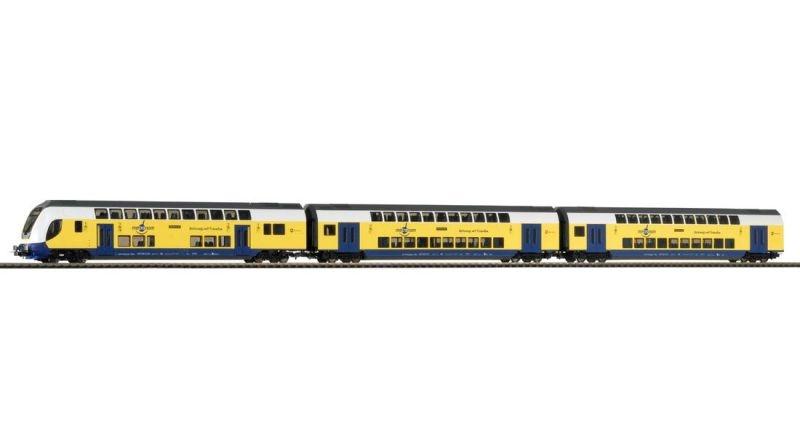 3er Set Doppelstockwagen Metronom, Epoche VI, DC, Spur H0