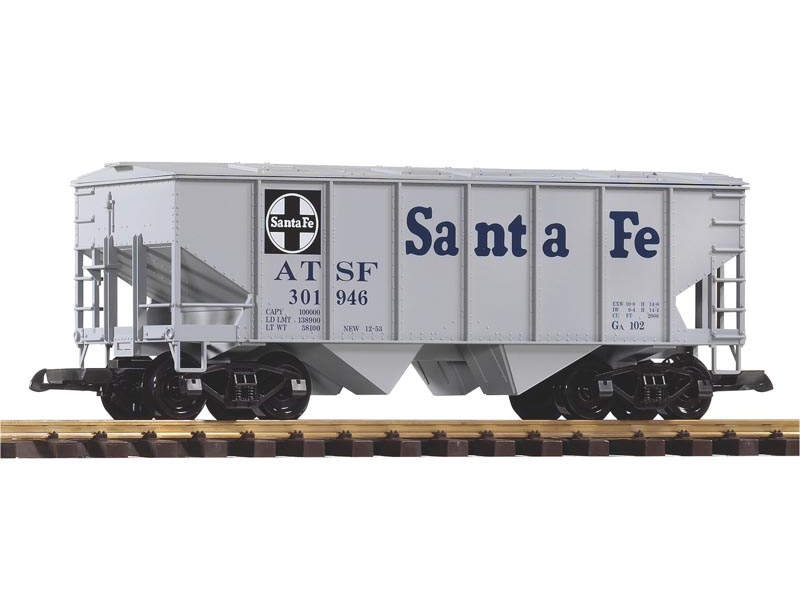 Schüttgutwagen grau der Santa Fe Railroad, Spur G