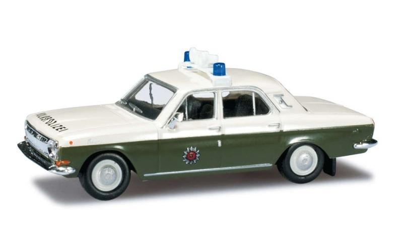 Wolga M24 Volkspolizei, mit Warnanlage, 1:87, Spur H0
