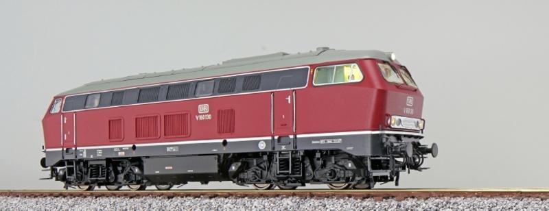 Diesellok BR 216, V160 130 DB, altrot, Sound+Rauch, DC/AC H0