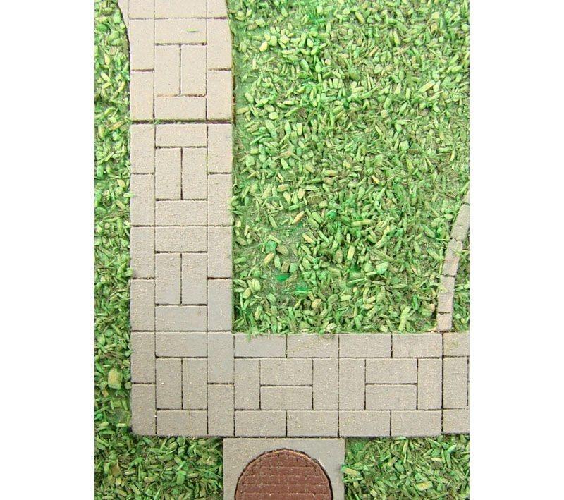 Wegplatten III Laser-Cut Bausatz, Spur H0