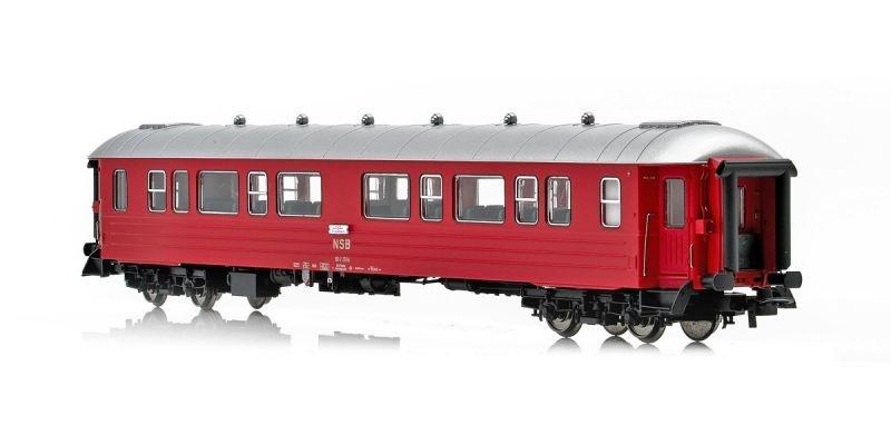 Topline Personenwagen B3-2 Typ 3 25514 der NSB,Rot/Silber,H0