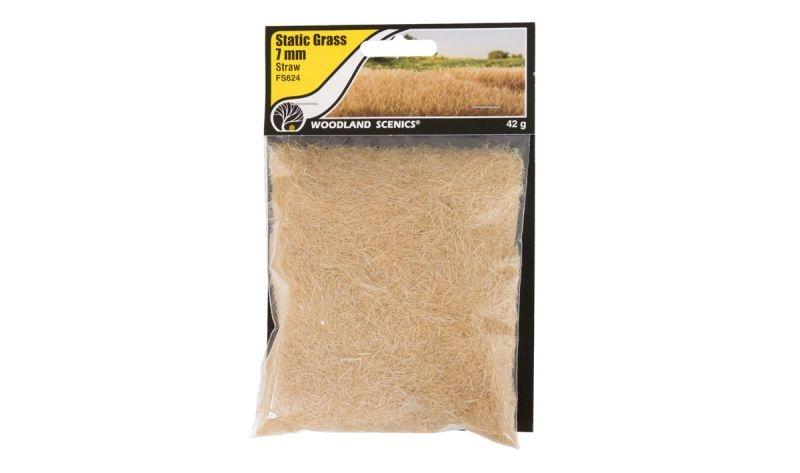 7mm Static Grass Strohfarbenes Gras