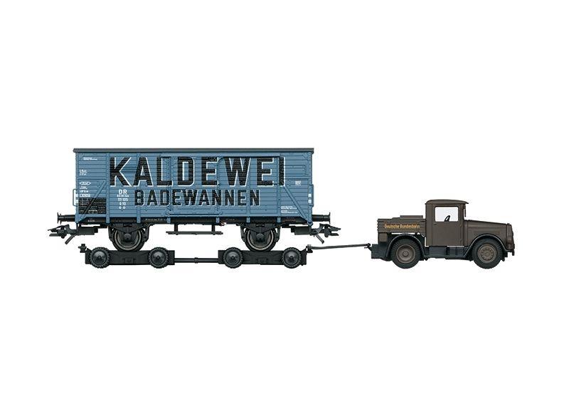 Gedeckter Güterwagen G 10 Kaldewei der DB, Ep.III, Spur H0