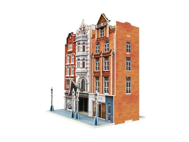 Start up - 3D Gebäude-Puzzle Wohn- und Geschäftshäuser H0