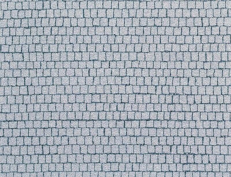 Kopfsteinpflaster-Platz 480 x 240 mm H0