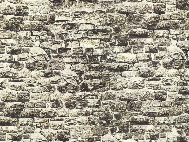 Mauerplatte Granit, 32 x 15 cm Spur H0, TT