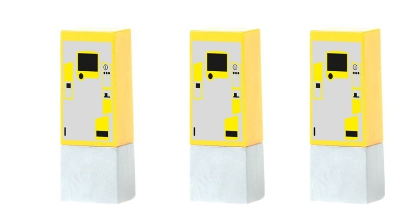 Parkscheinautomat (3 Stück), 1:87 / H0