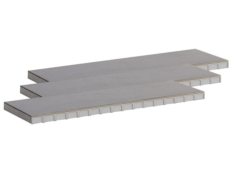 Universal-Bahnsteig, 3er-Set Laser-Cut Bausatz Spur H0