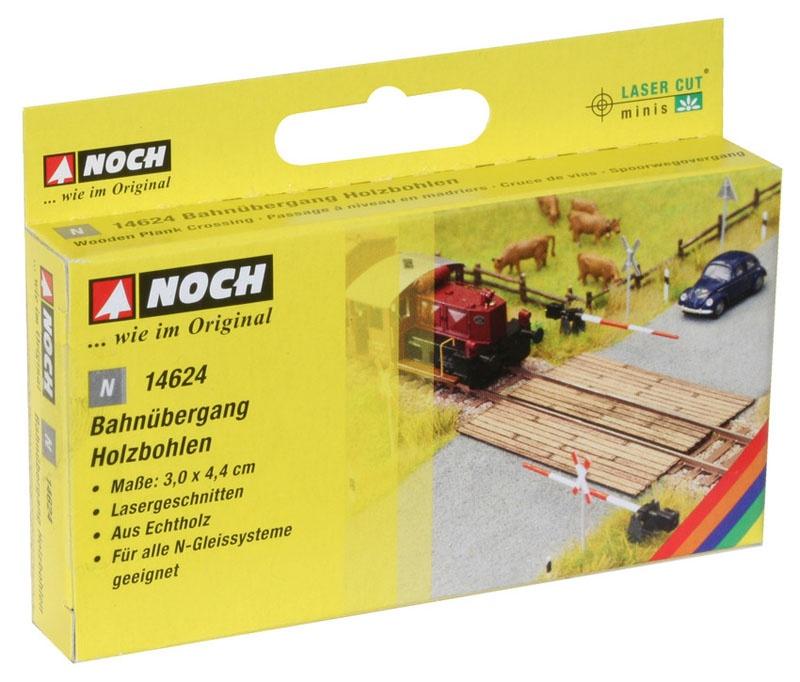 Bahnübergang Holzbohlen Laser-Cut minis Spur N