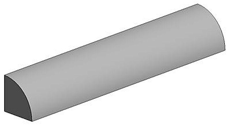 Viertelrundstange, 2,5 x 350 mm (3)
