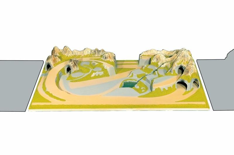 Fertiggelände Mittenwald Spur H0, TT