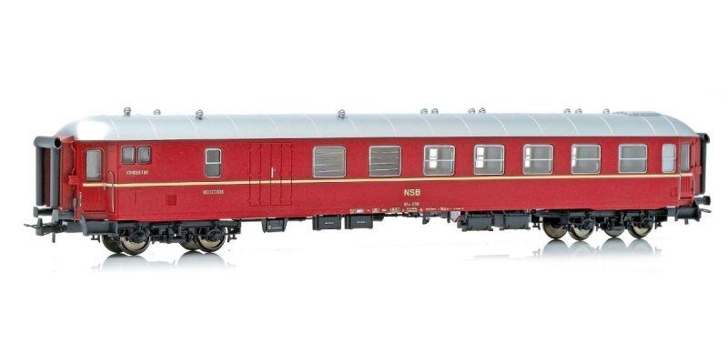 Topline Personenwagen BF10 21511 der NSB, Gammeldesign, H0