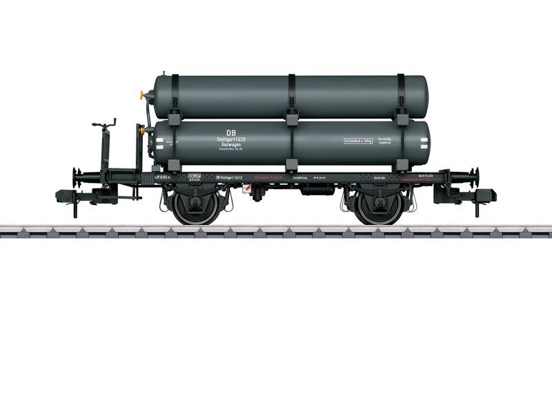 Dienstgutkesselwagen mit Gasbehältern der DB, Spur 1