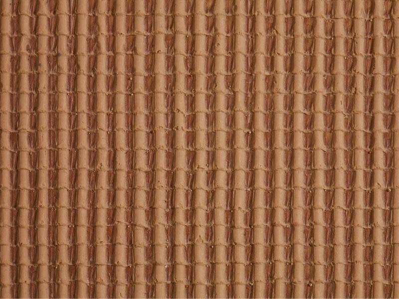 Dachpfanne, rot, 28 x 10 cm Spur H0