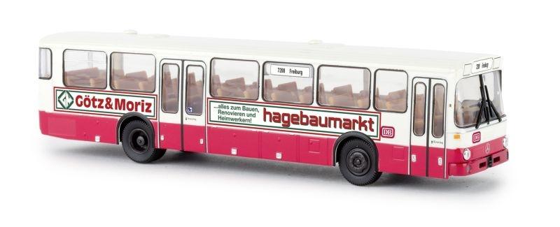 Mercedes O 307, weiss/rot, DB - Hagebaumarkt, Spur H0