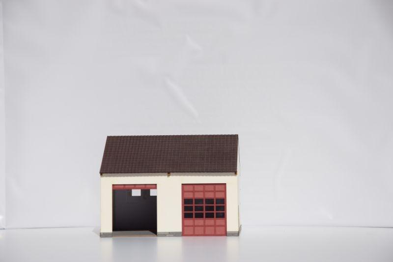 Pkw-Fahrzeughalle, Spur H0 (Lasercut-Bausatz)