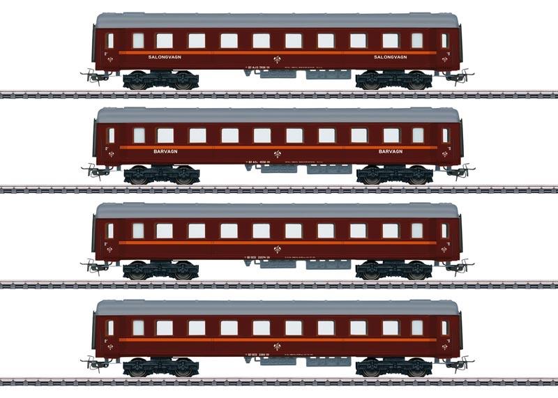 Personenwagen-Set Tin Plate der BJ, AC, Spur H0