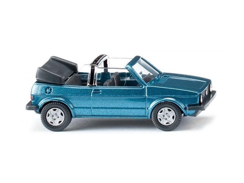 VW Golf I Cabrio - oceanic blue metallic 1:87 / H0