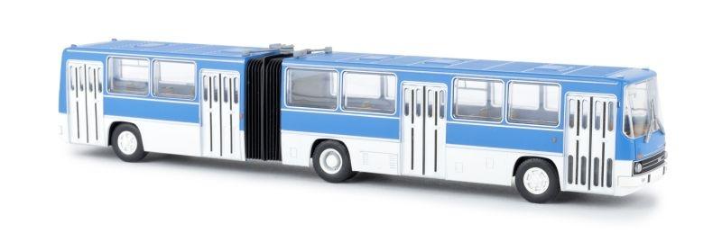 Ikarus 280 Gelenkbus, blau/weiss, TD, Spur H0