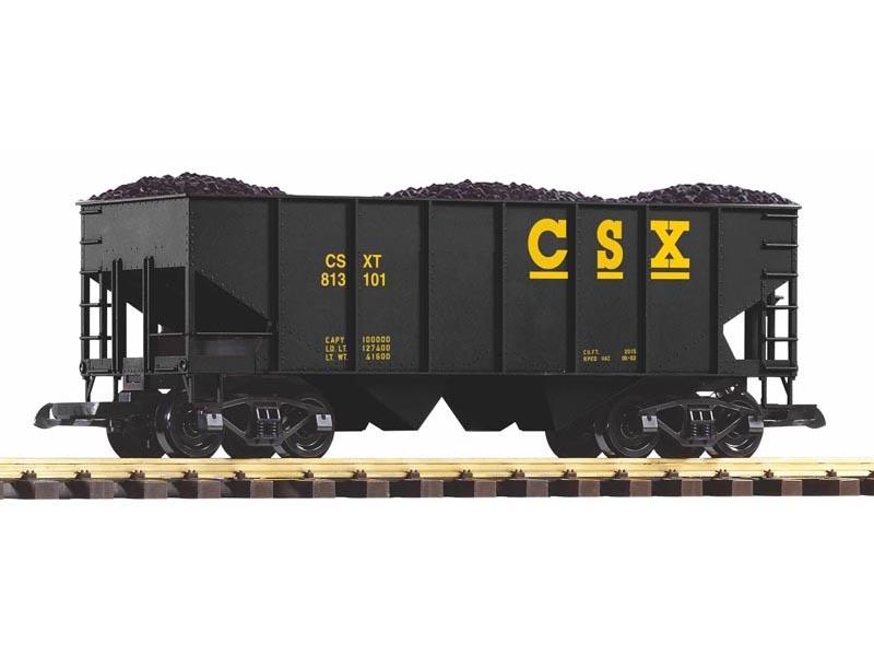 Schüttgutwagen der CSX mit Kohleladung, Spur G