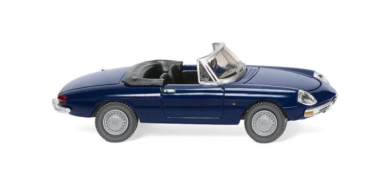 Alfa Spider - dunkelblau, 1:87, Spur H0