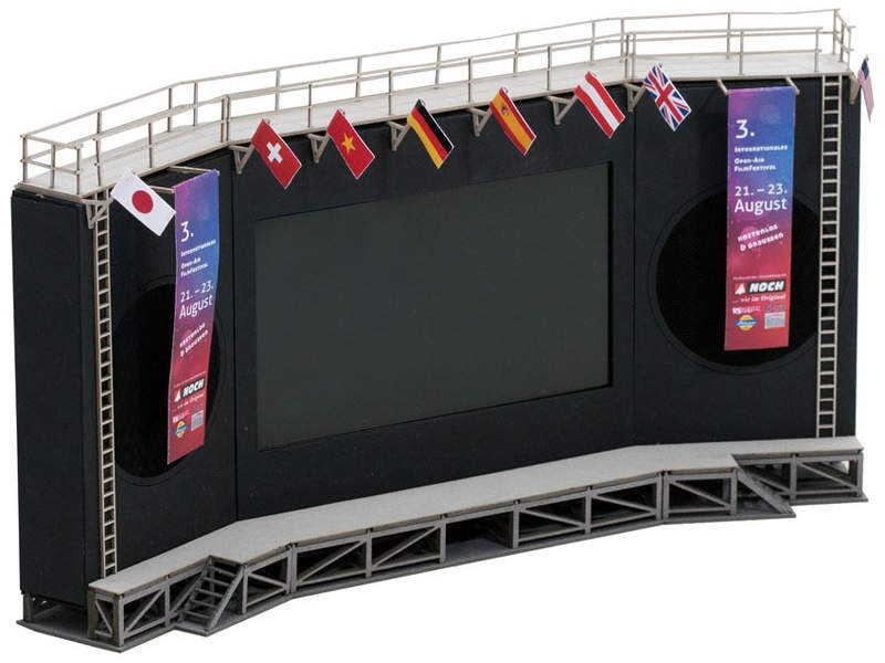 micro-motion Open-Air Filmfestival Laser-Cut Bausatz Spur H0