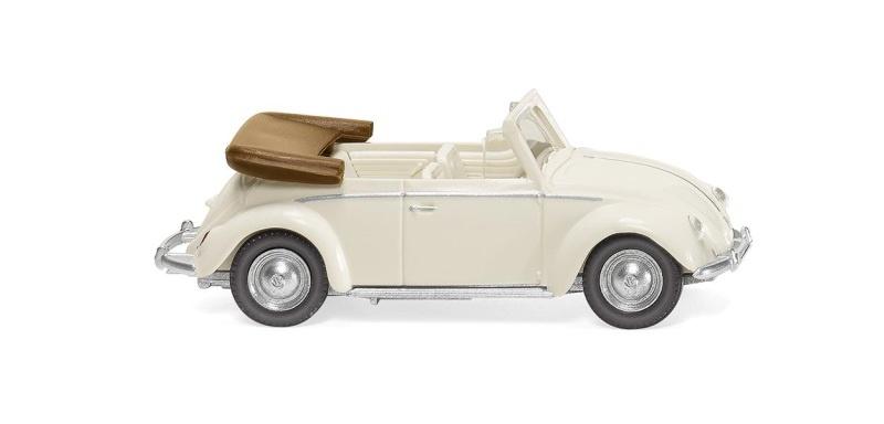 VW Käfer 1200 Cabrio - perlweiß, 1:87, H0