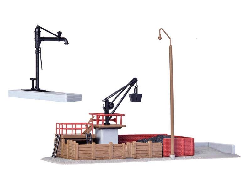 Bekohlungsanlage mit Wasserkran, Bausatz, Spur N