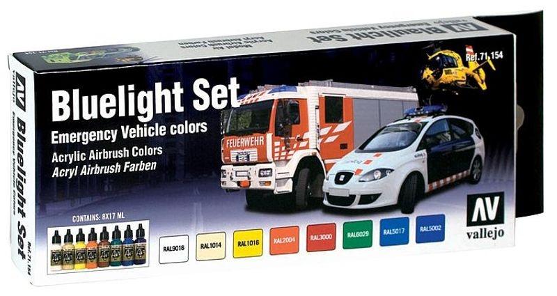 Farb-Set, Blaulicht-Set, 8 x 17 ml