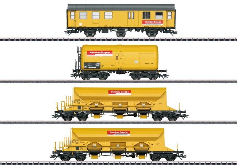 Güterwagen-Set der DBG Bahnbau Gruppe, Spur H0