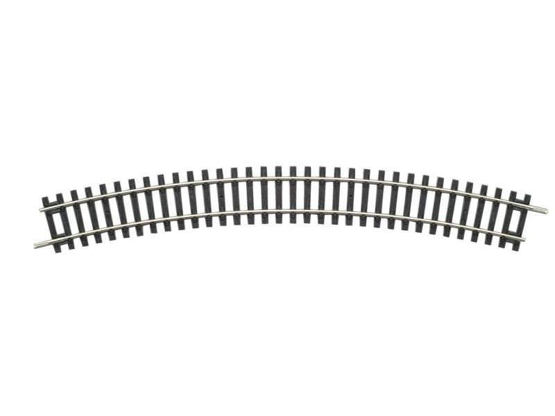 Gebogenes Gleis R3 484mm, A-Gleis mit Holzschwelle, Spur H0