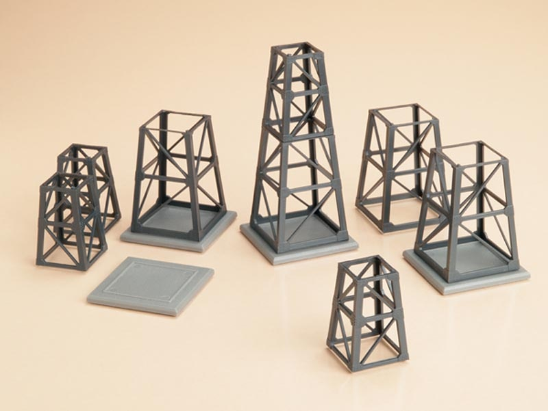 Stahltragwerkselemente konisch, Bausatz, Spur H0 / Spur TT