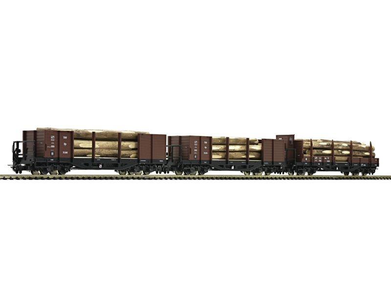 Güterwagen-Set Holztransportwagen 3-tlg. ÖBB H0e