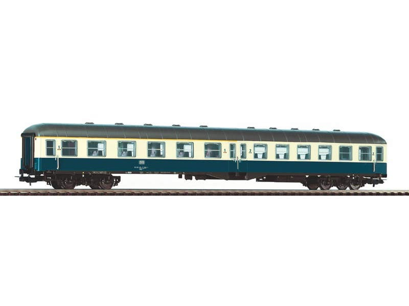 Mitteleinstiegswagen 1./2. Klasse DB, beige-blau, Ep. IV, H0