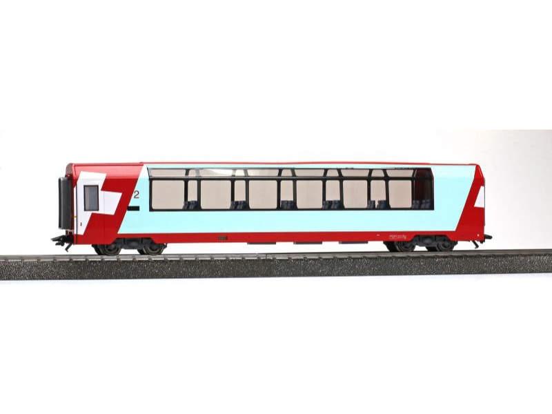Glacier-Express Panoramawagen Bp 2538, AC, RhB, H0