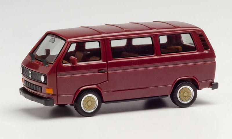 VW T3 Bus mit BBS-Felgen, weinrot, Spur H0, 1:87