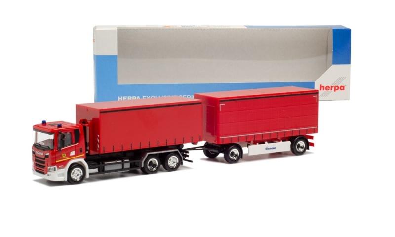 Scania CG 17 Wechselgardinenplanen-Hängerzug, 1:87 / Spur H0