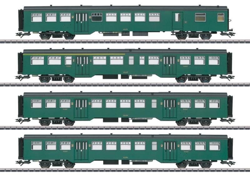 Personenwagen-Set M2 der SNCB, AC, Spur H0