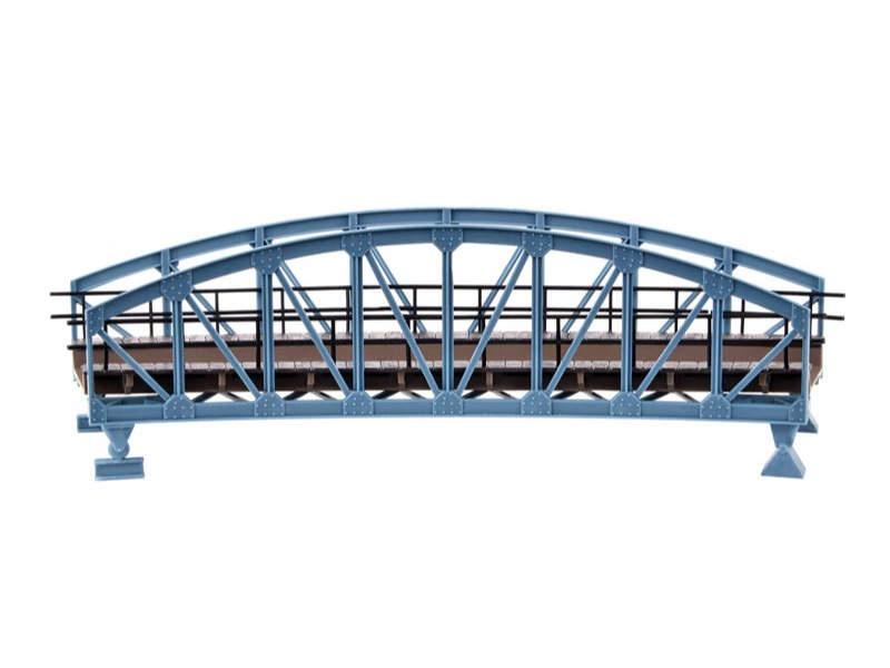 Stahlbogenbrücke, gebogen, Bausatz, Spur H0
