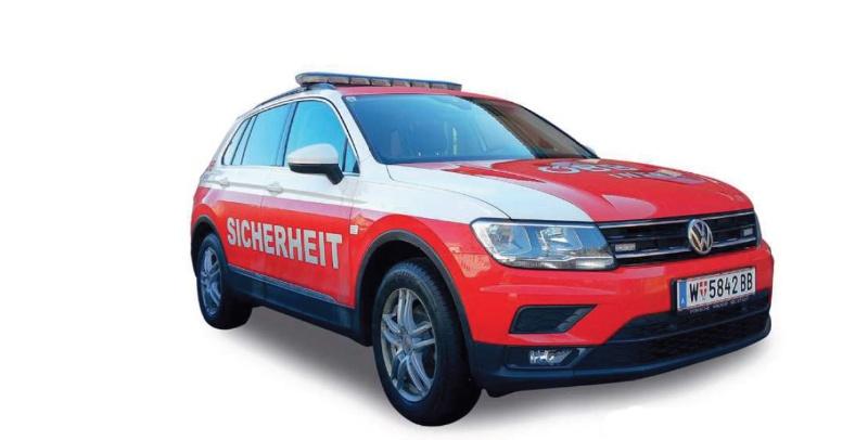 VW Tiguan ÖBB Sicherheit, 1:87 / Spur H0