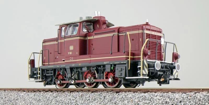 Diesellok BR V60 615, altrot, Epoche III, E-Kupplung,Spur H0