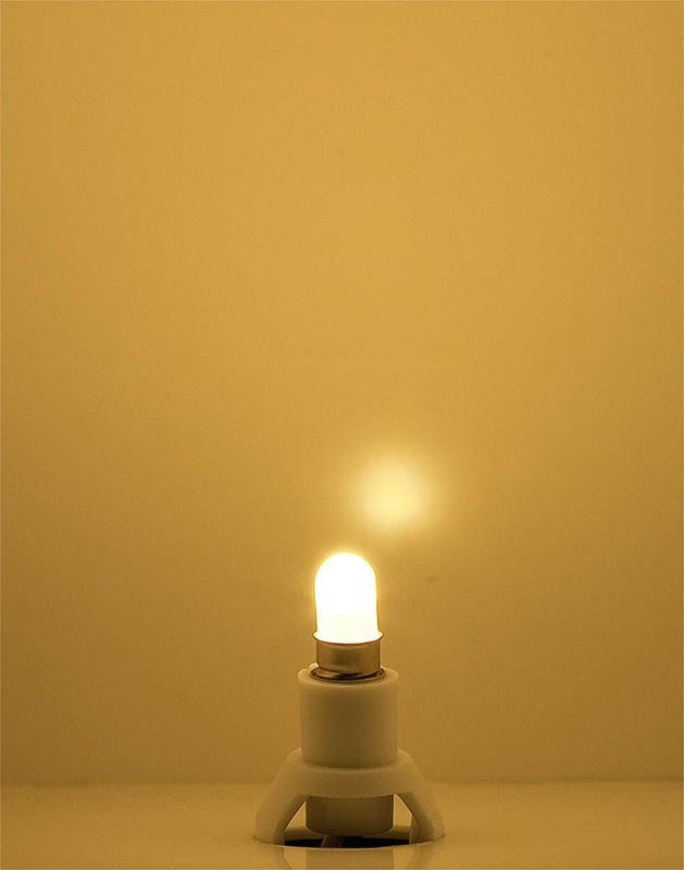 Beleuchtungssockel LED, warm weiß, 12 - 16 V