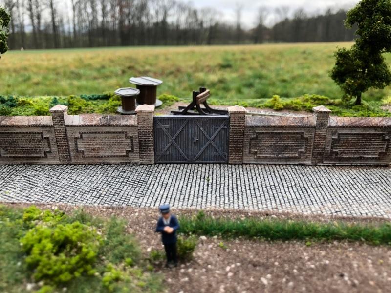 Fabrik- oder Friedhofsmauer, Set A / Spur H0