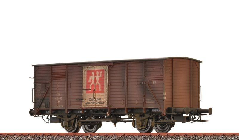 Gedeckter Güterwagen G10 Zwilling, DB, patiniert, DC, H0