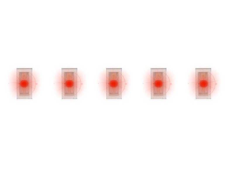 5 SMD-LEDs, rot H0, TT, N, Z